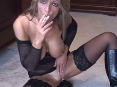 Blond Smokin' and Fingering two