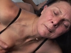 Older masturbates with toy in advance of copulates