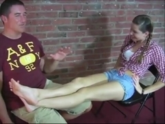 Horny Slut Adriana gets her feet worshipped