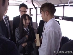 Mana Katase hot Asian doll gets into sex orgy on the bus home