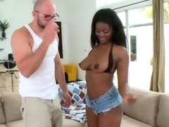 Msucled Jmac pleasures hot ass ebony slut Leila
