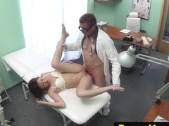 Real patient creampied after fucking the doc