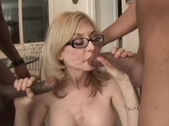 Nina Hartley Starts a 2 on 1