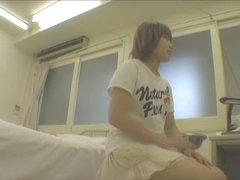 Deep gyno examination shot on medical hidden camera