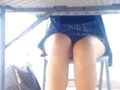 Sexy Leg Tease and Upskirt