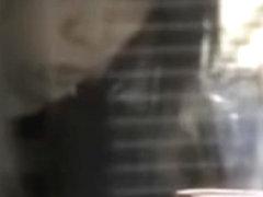 Asian sharking video showing a sexy slender hottie