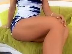 Horny brunette in high heels loves anal sex