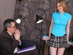 TrickyOldTeacher - Horny attractive student rides older teacher and fucked doggestyle