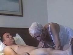 70 yr old granny with 20 yr old stud