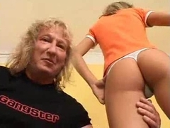 German girl gets sandwiched by two ugly assholes