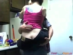 Legal Age Teenager Has A Quickie In The Kitchen