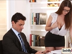 Busty ###ary Brooklyn Chase gets a pearl necklace