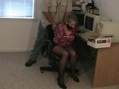 Secretary chair tied