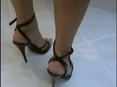 sexy heels wetlook