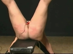harsh SADOMASOCHISM caning electriciy in pusy and waxed