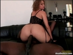 Hot brunette hair chick receives sexually excited riding