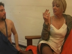 Hot european porn video with naughty foot fetish