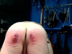 Extreme caning 220 strokes from brutal mistress in uniform