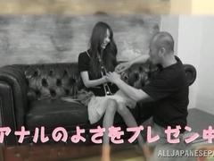 Hot Asian milf gets an ass fucking on camera