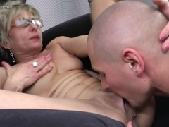 Old aged mamma receives screwed by her toyboy