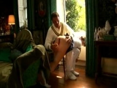 Susana Avril spanked, fingered &, permeated by two mates