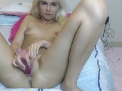 Sexy White Haired Babe Showing off Cam