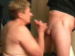 Grandma sucks a large ramrod