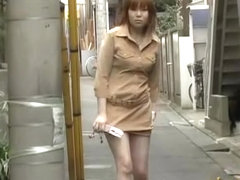 Cute Japanese girl with her panties exposed during sharking