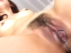 Maho Sawai Asian beauty gets exposed pussy roughly fing
