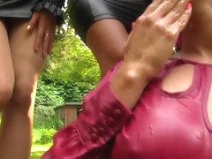 Urine lesbians fingering