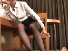 Horny Japanese girl Seira Moroboshi in Fabulous Censored, Foot Job/Ashifechi JAV clip
