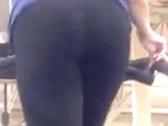 Latina milf on treadmill
