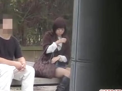Bum stretching video of small lovable Asian whore during sharking scene