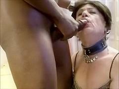 Floozy older lady-man cum eating comp