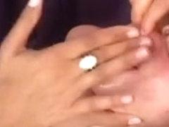 Brazilian bondman worships feet of 3 gals and eats spit