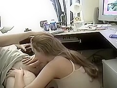 Dilettante - GF Engulf BF On Livecam During The Time That Allies See