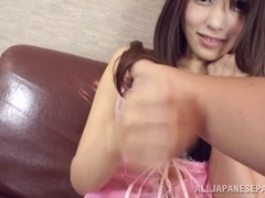 Arousing Japanese AV Model endures pussy slamming fuck