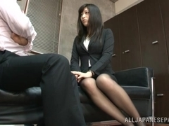 Sweet office babe Miku Sunohara in hardcore action