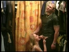 blonde floozy receive drilled by a rock hard boy-friend un the local shop