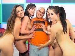 Zoey Foxx & Noelle Easton & Jennifer White & Dava Foxx in Lucky Virgin Finally Loses His V Card! V.