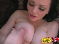 Fake casting cons barmaid into sucking and fucking cock