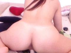 Nice Ass Cam Babe Rides a Dildo