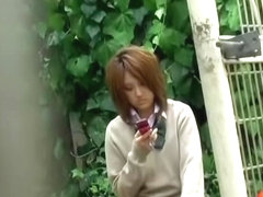 Steamy sharking action with really mesmerizing brown-haired Japanese whore