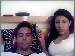Naughty busty Indian girlfriend sucks me off previous to doggyfucking