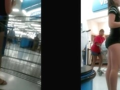 candid teen ass in store