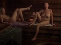 Swedes talking in a sauna