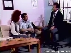 Two guys one woman group fuck