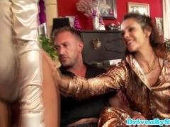 Three glam euro sluts love cock in ass