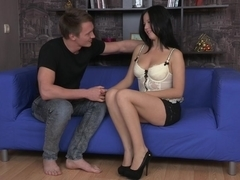 Great lingerie porn with strong orgasm in the end