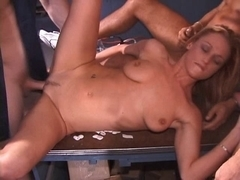 British bitch Donna Marie acquires screwed by several dudes